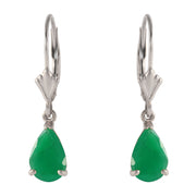 Ladies 14K White Gold Rivalry Emerald Earrings - Fashion Strada