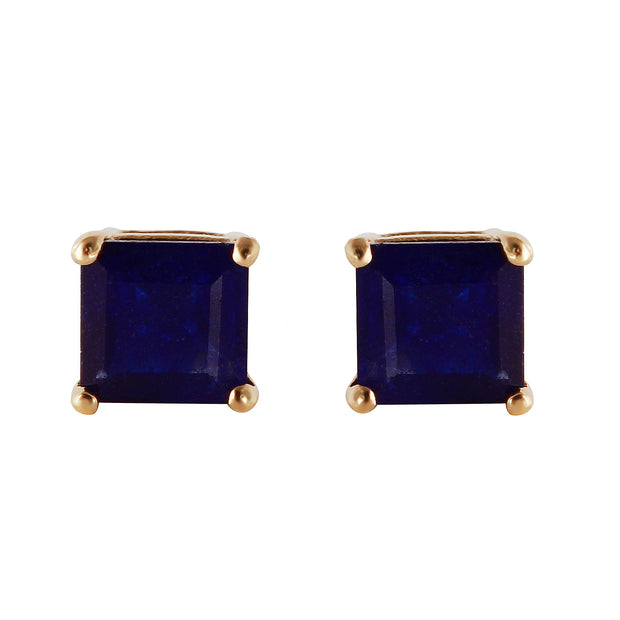 Ladies 14K Solid Gold My Last Love Sapphire Earrings - Fashion Strada