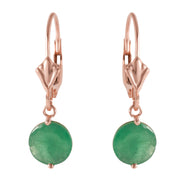 Ladies 14K Rose Gold PrettyGirl Emerald Earrings - Fashion Strada