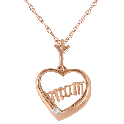 Diamond 14K Rose Gold Ladies Necklace