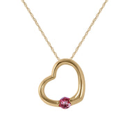 Pink Topaz 14K Yellow Gold Ladies Necklace - Fashion Strada