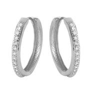 Diamond 14K White Gold Ladies Earrings - Fashion Strada