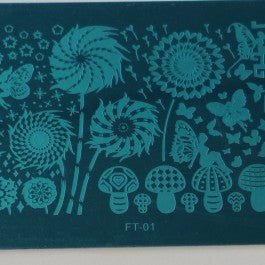 Nail Art Stamping Plate - FT01