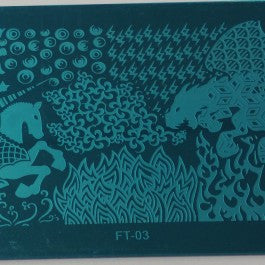 Nail Art Stamping Plate - FT03