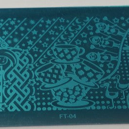 Nail Art Stamping Plate - FT04