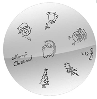 Nail Art Stamping Plate - M12