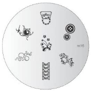 Nail Art Stamping Plate - M16