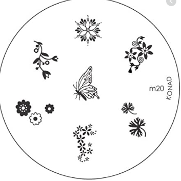Nail Art Stamping Plate - M20