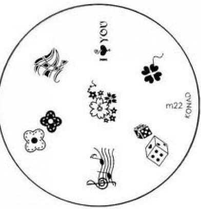Nail Art Stamping Plate - M22