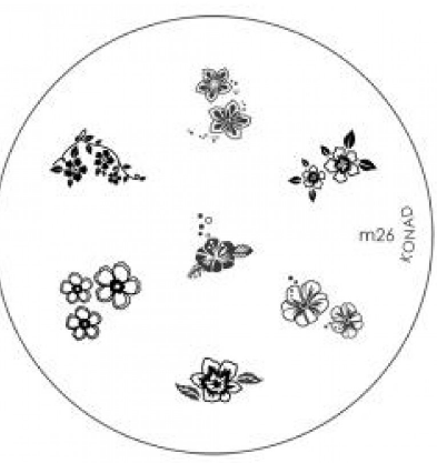 Nail Art Stamping Plate - M26