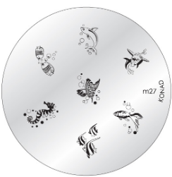 Nail Art Stamping Plate - M27