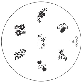 Nail Art Stamping Plate - M2