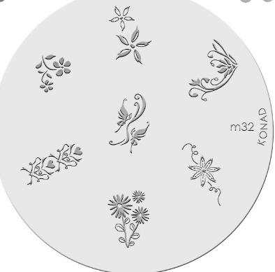 Nail Art Stamping Plate - M32