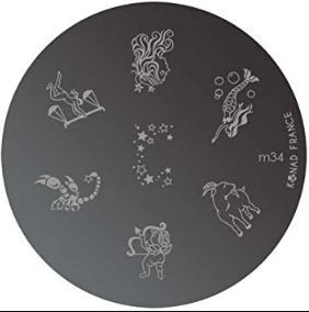Nail Art Stamping Plate - M34