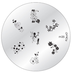 Nail Art Stamping Plate - M35
