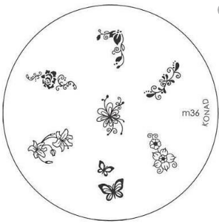 Nail Art Stamping Plate - M36