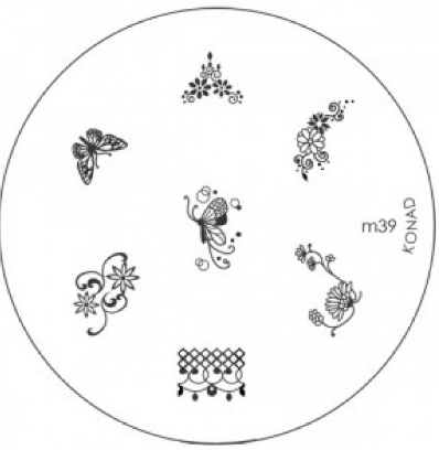 Nail Art Stamping Plate - M39