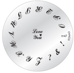 Nail Art Stamping Plate - M47
