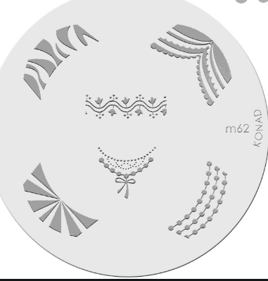 Nail Art Stamping Plate - M62