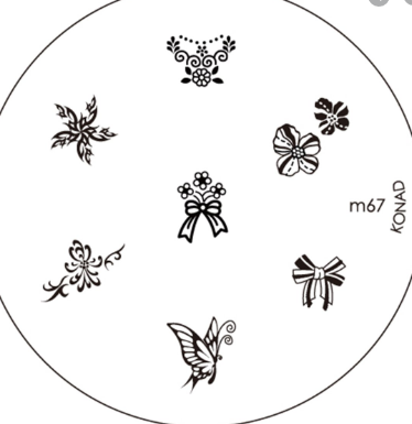 Nail Art Stamping Plate - M67