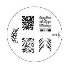 Nail Art Stamping Plate - M73