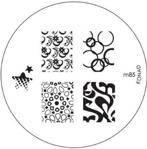Nail Art Stamping Plate - M85