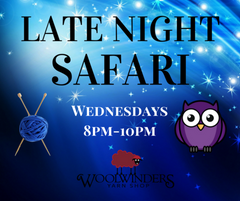https://www.woolwinders.com/products/wednesday-safari-lite-april-late-night-8-00-pm-10-00-pm