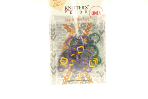 Geometric Metal Stitch Markers