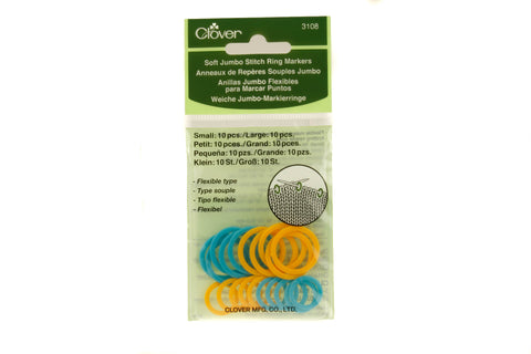 Clover Soft Jumbo Stitch Ring Markers