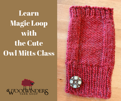 Magic Loop - Cute Owl Mitts