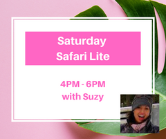 Saturday Safari 4PM - 6PM