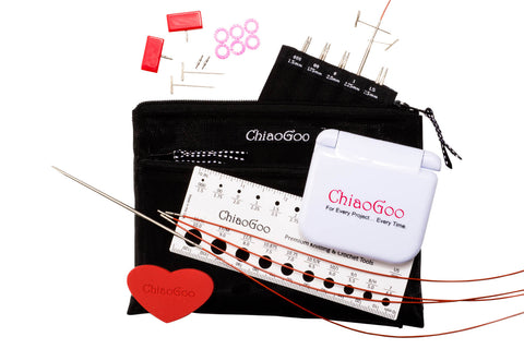 "ChiaoGoo Twist Mini 4"" Stainless Steel Lace IC Set (000-1.5 tips)"