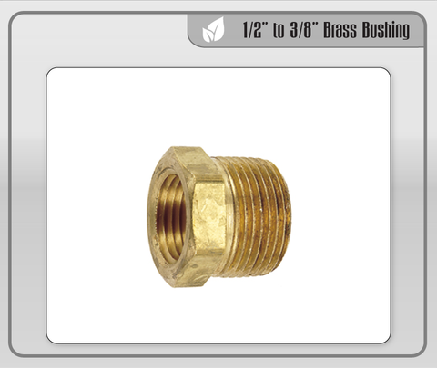 "1/2"" to 3/8"" Brass Bushing"