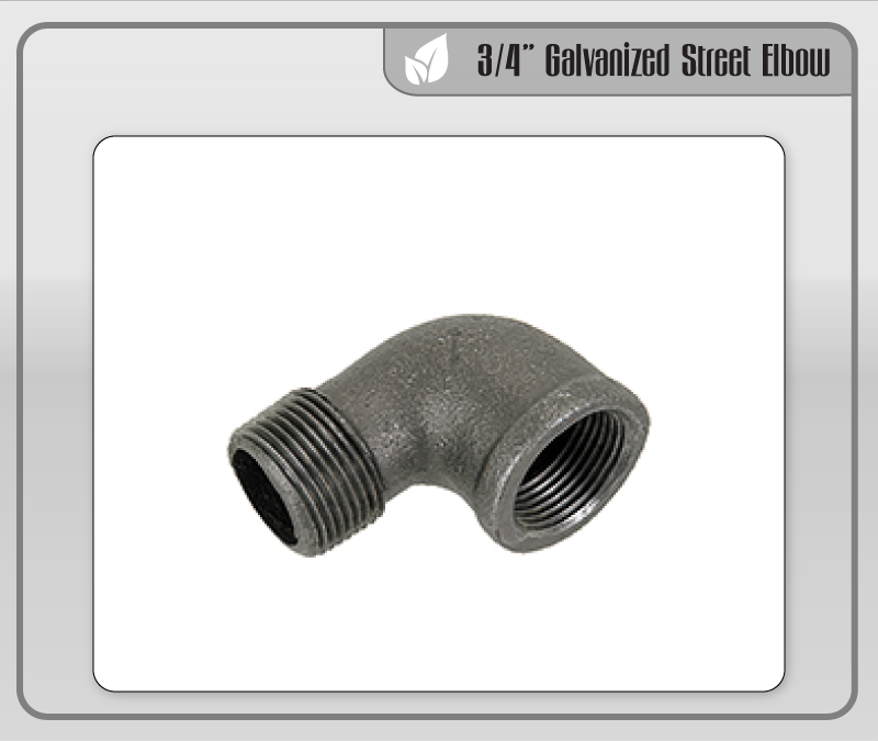 "3/4"" Galvanized Street Elbow"