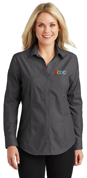 3CDC Ladies Crosshatch Easy Care Embroidered Shirt