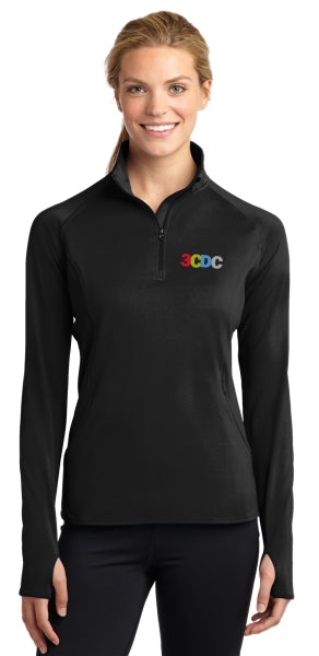 3CDC Ladies Sport-Wick® Stretch 1/2-Zip Pullover