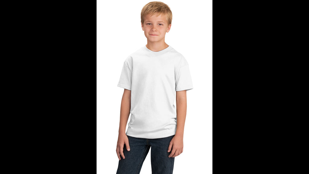 White Youth Cotton T-shirt