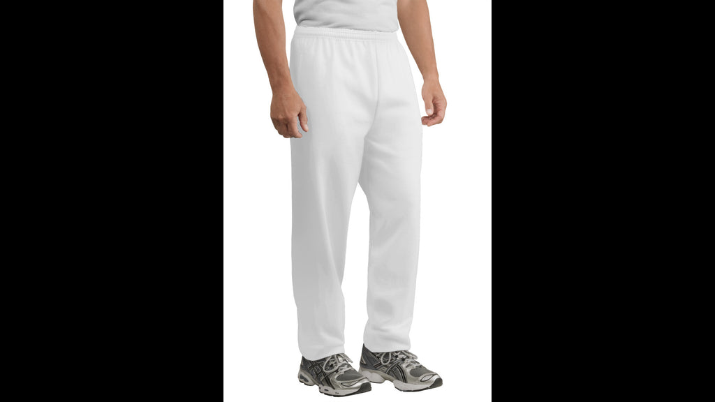 White Sweatpants with Pockets