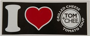 "I ""Heart"" Tom + Chee Bumper Stickers"