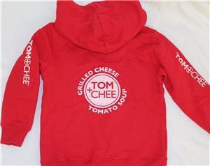TODDLER Zip Hoodie Horizontal logo down both sleeves