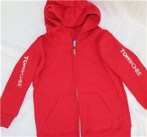 KIDS Zip Hoodie Horizontal logo down both sleeves