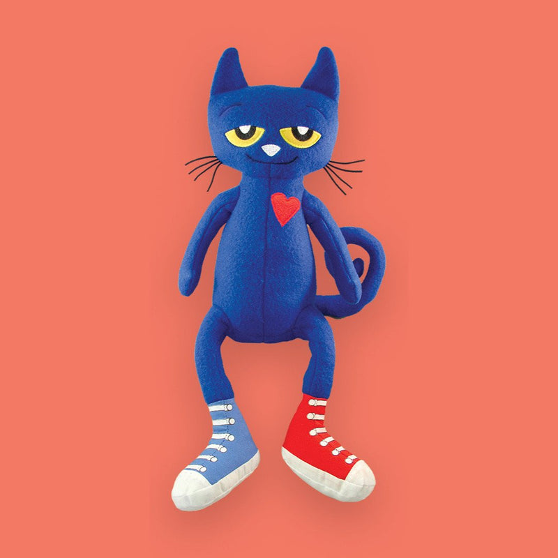 "MerryMakers 14.5"" Pete the Cat Doll, based on the book by James Dean"