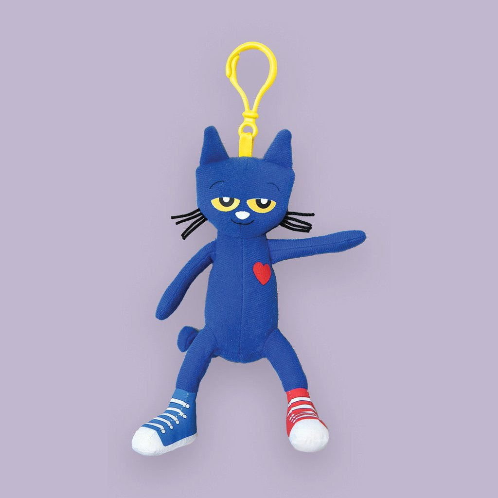 "MerryMakers 6.5"" Pete the Cat Backpack Pull, based on the book by James Dean"