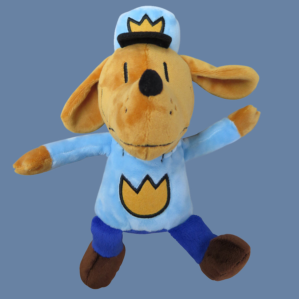 "MerryMakers 9.5"" Dog Man Doll, based on the book by Dav Pilkey"