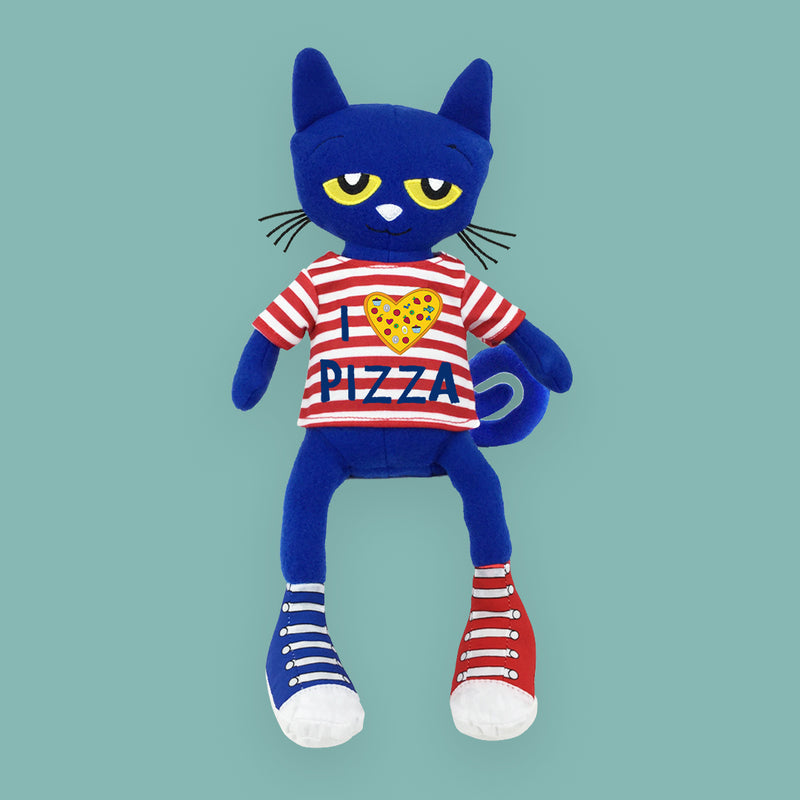 "MerryMakers 14.5"" Pete the Cat Pizza Party Doll, based on the bestselling books by James Dean"