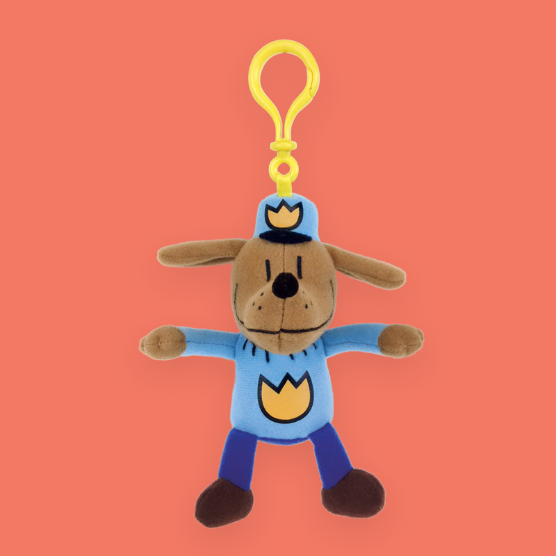 "MerryMakers 5.5"" Dog Man Backpack Pull based on the book by Dav Pilkey"