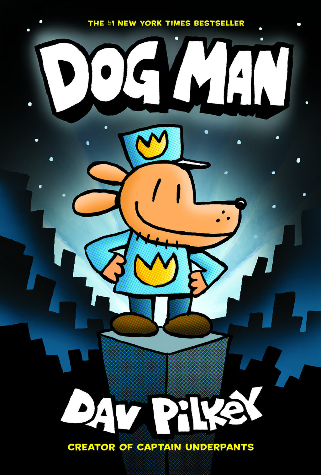 "MerryMakers 9.5"" Dog Man Doll and Book Set, based on the book by Dav Pilkey"