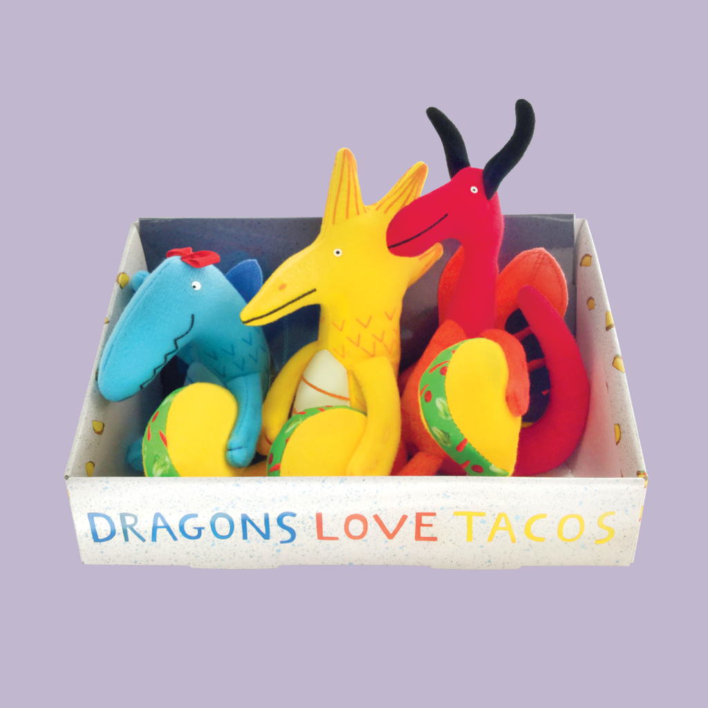 "MerryMakers 4.5 - 5.5"" Dragons Love Tacos Mini Doll and Book Set, based on the book by Adam Rubin"