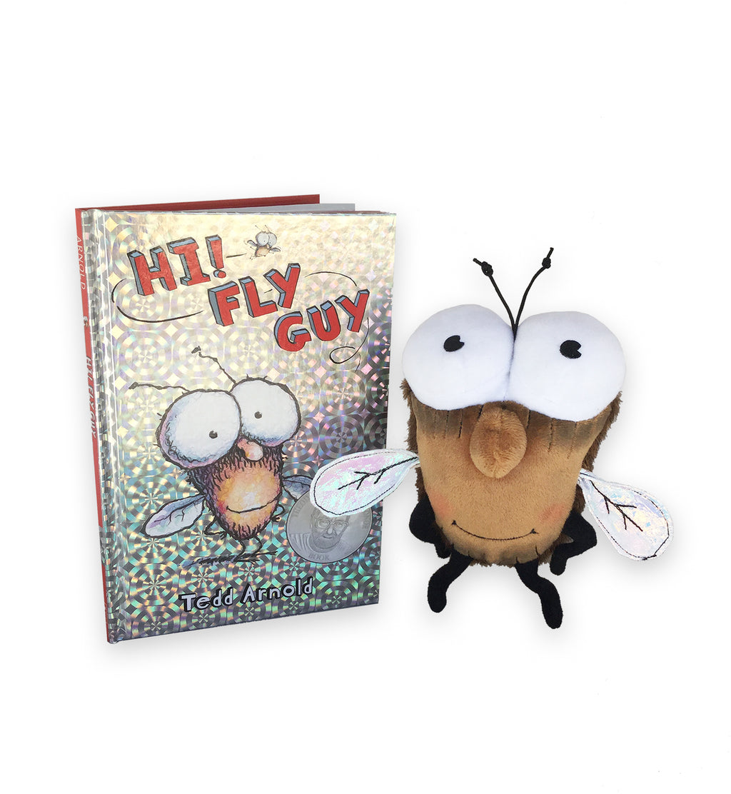 "MerryMakers 8"" Fly Guy Doll and Book set by Tedd Arnold"