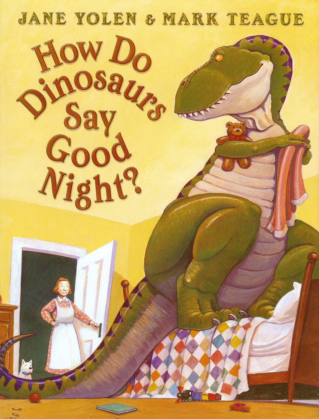 "MerryMakers 14"" How Do Dinosaurs Say Good Night? Doll and Book Set, based on the books by Jane Yolen"